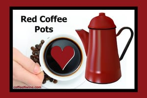 Red Coffee Pots